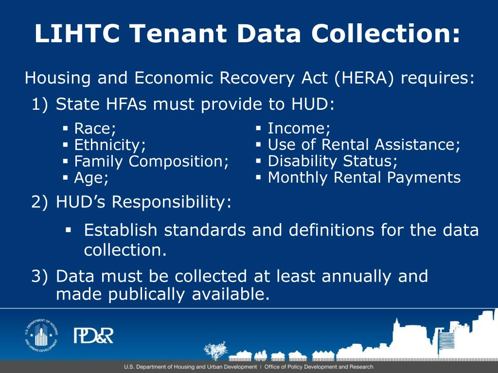 LIHTC Tenant Data Collection: