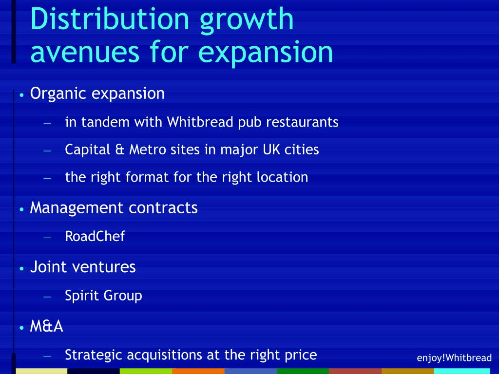 Distribution growth