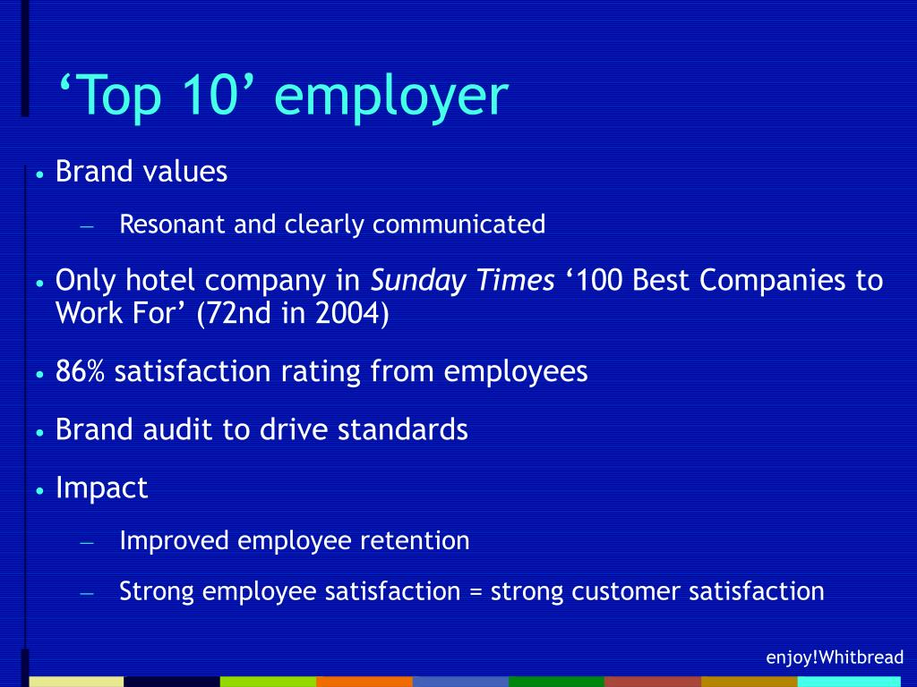 'Top 10' employer