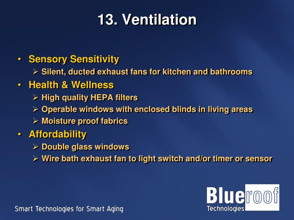 13. Ventilation