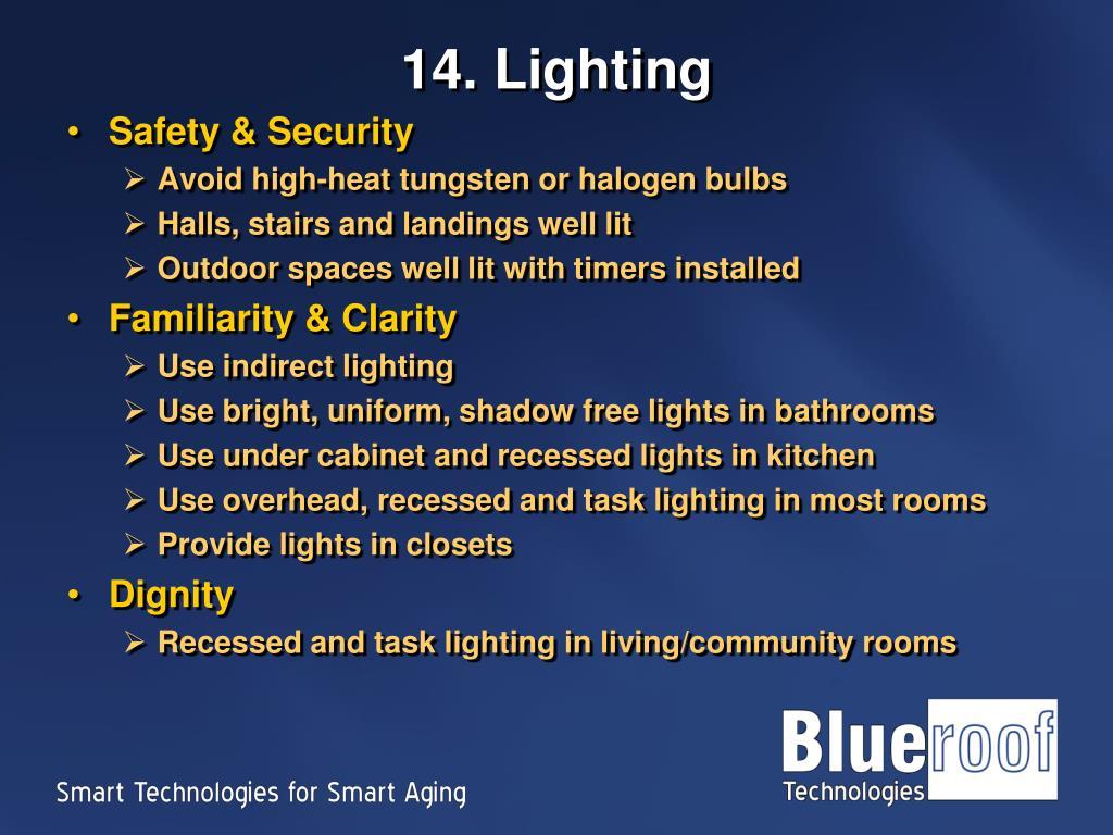 14. Lighting