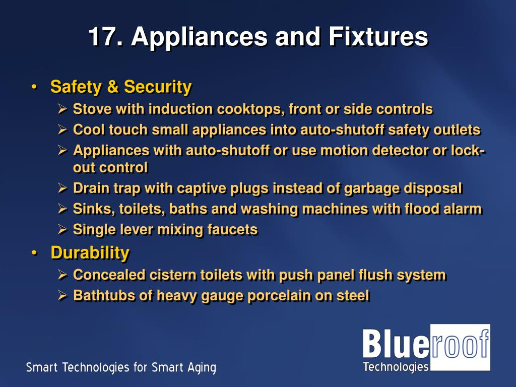 17. Appliances and Fixtures
