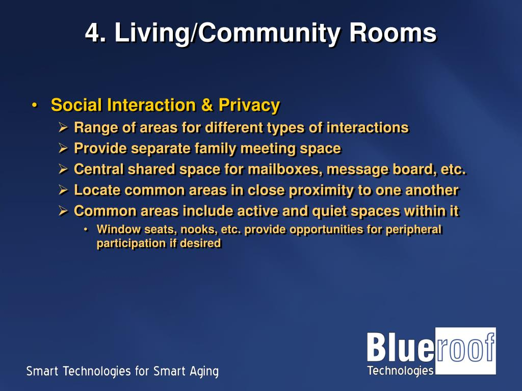 4. Living/Community Rooms