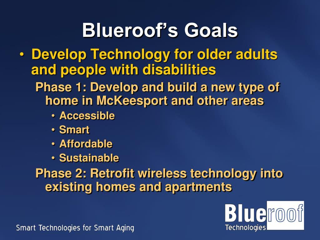 Blueroof's Goals