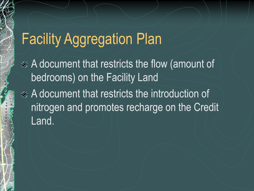 Facility Aggregation Plan