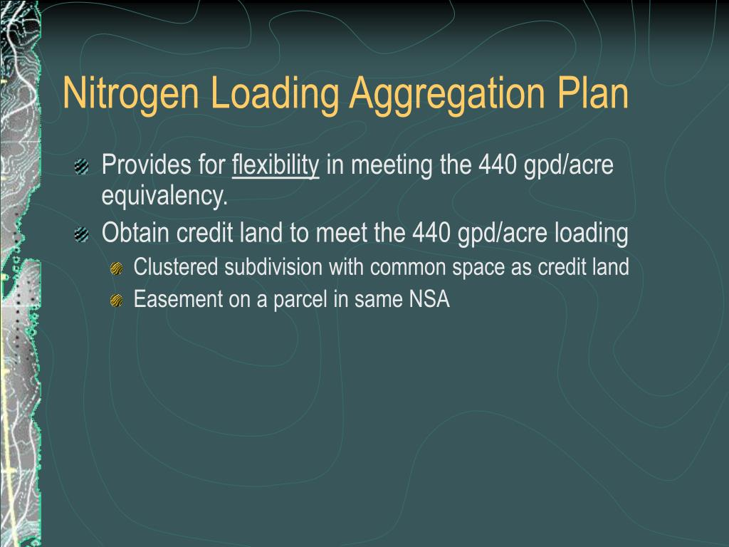 Nitrogen Loading Aggregation Plan