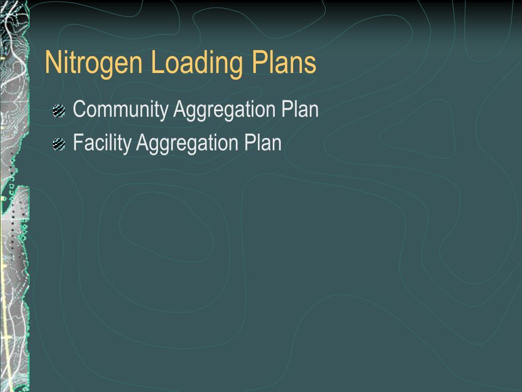 Nitrogen Loading Plans
