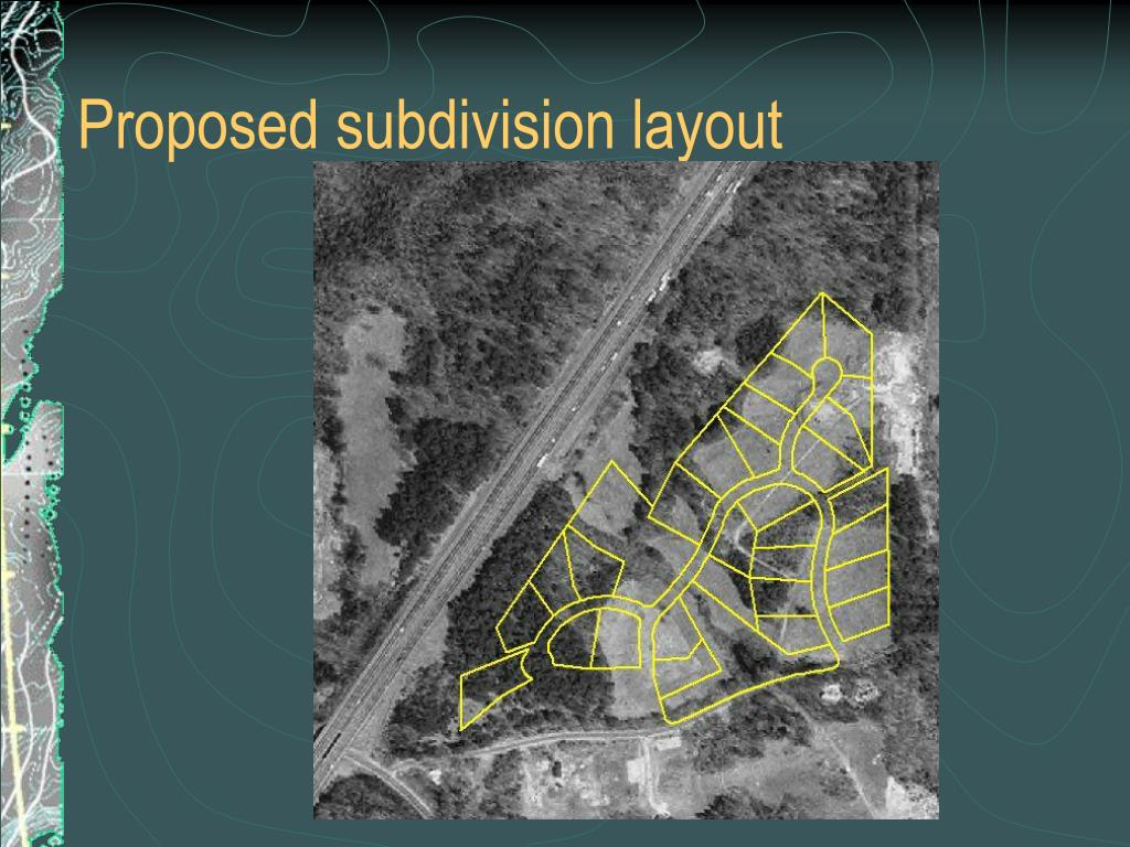 Proposed subdivision layout