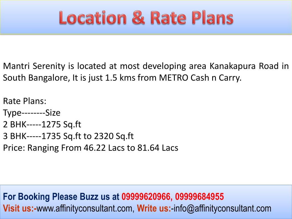 Location & Rate Plans