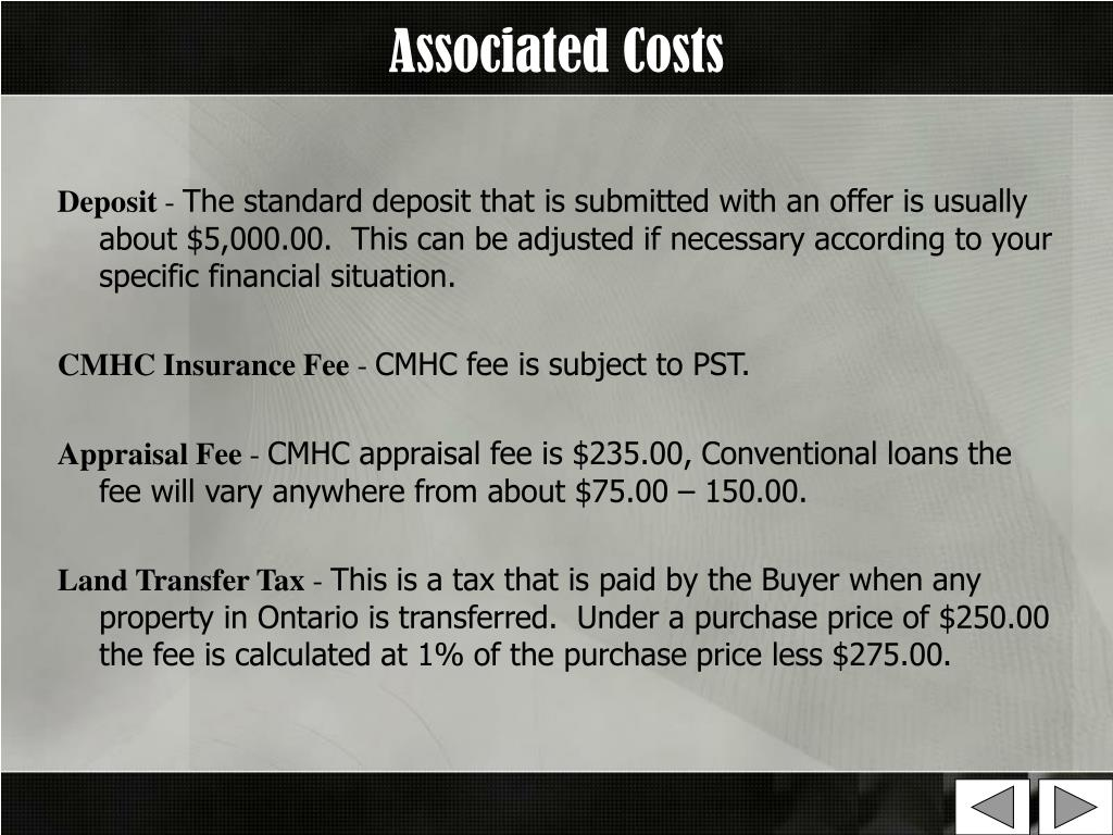 Associated Costs
