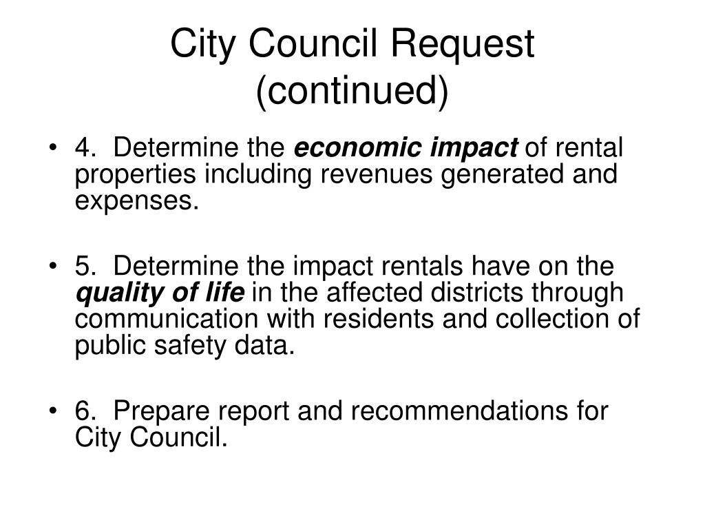 City Council Request