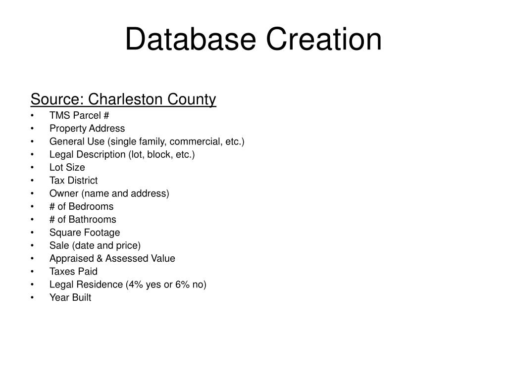 Database Creation