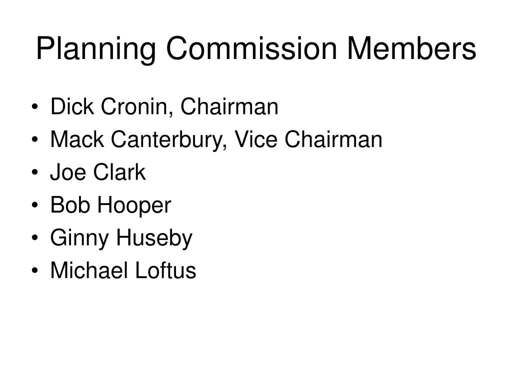 Planning Commission Members