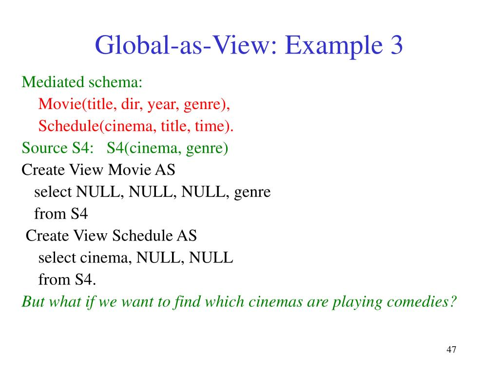 Global-as-View: Example 3