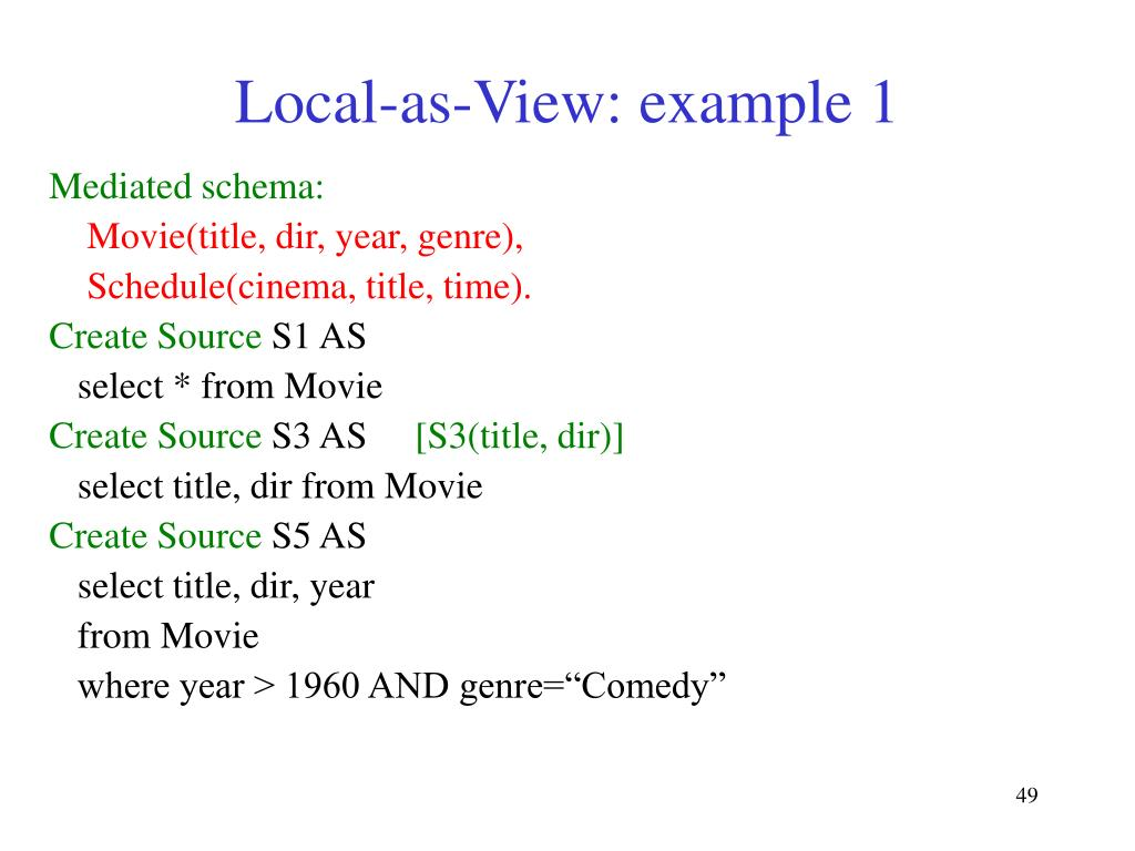 Local-as-View: example 1