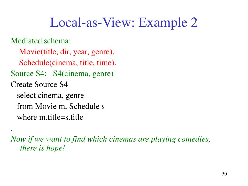 Local-as-View: Example 2