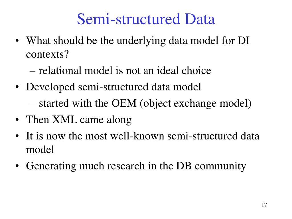 Semi-structured Data