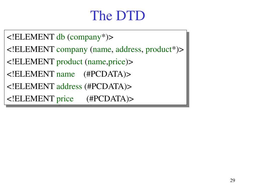 The DTD