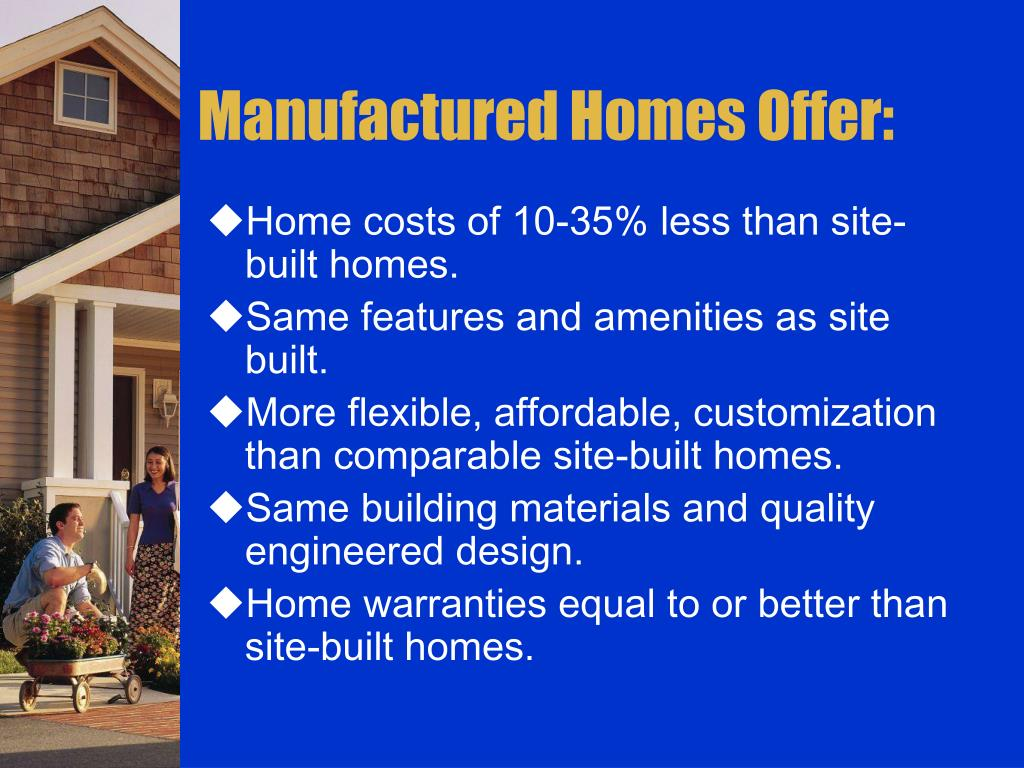 Manufactured Homes Offer:
