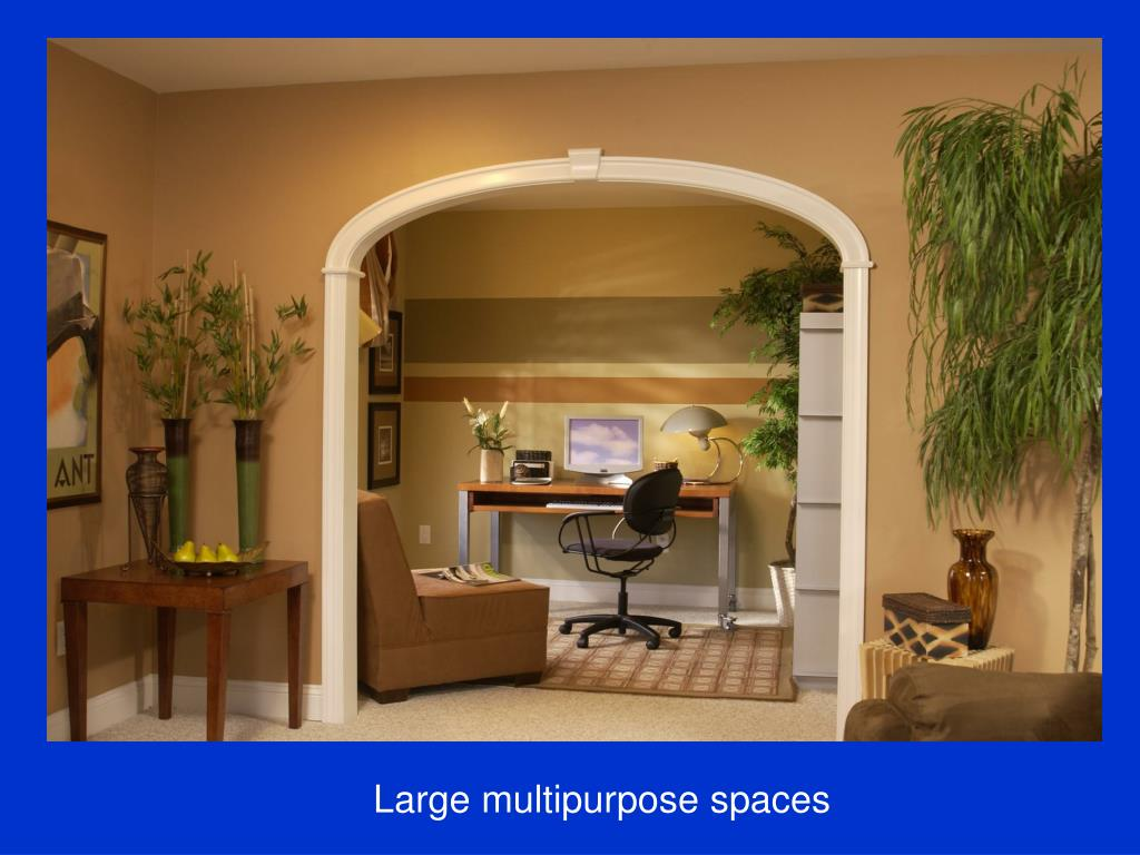 Large multipurpose spaces