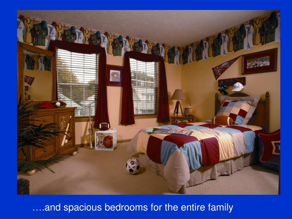….and spacious bedrooms for the entire family