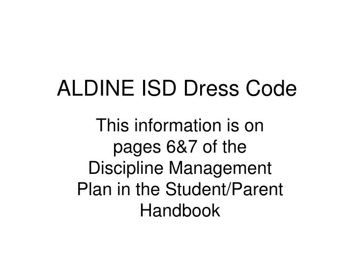 Aldine isd dress code l.jpg