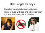 hair length for boys