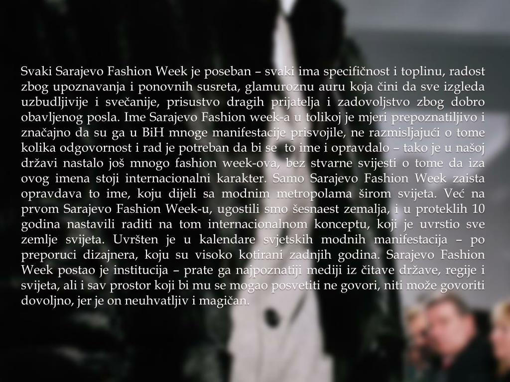Svaki Sarajevo Fashion Week je poseban – svaki ima