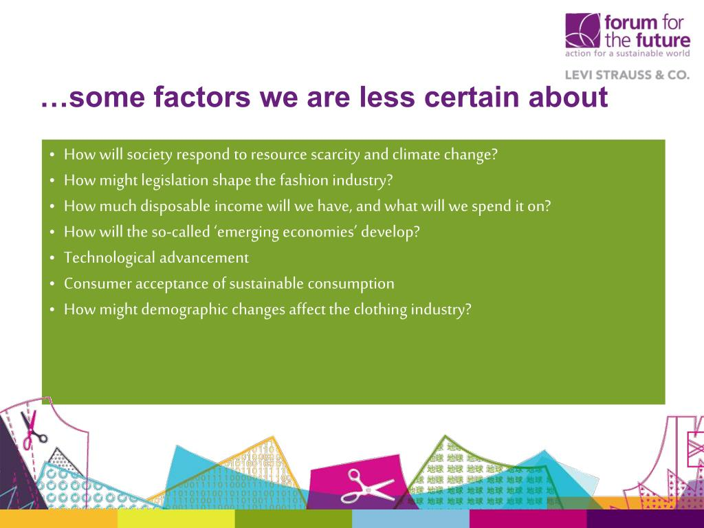 …some factors we are less certain about