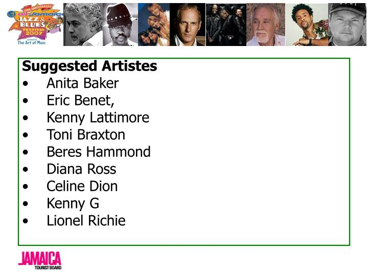Suggested Artistes