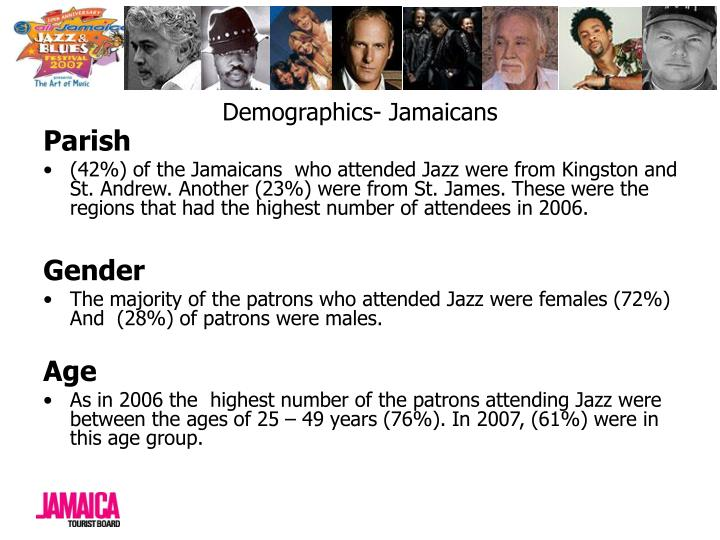 Demographics- Jamaicans