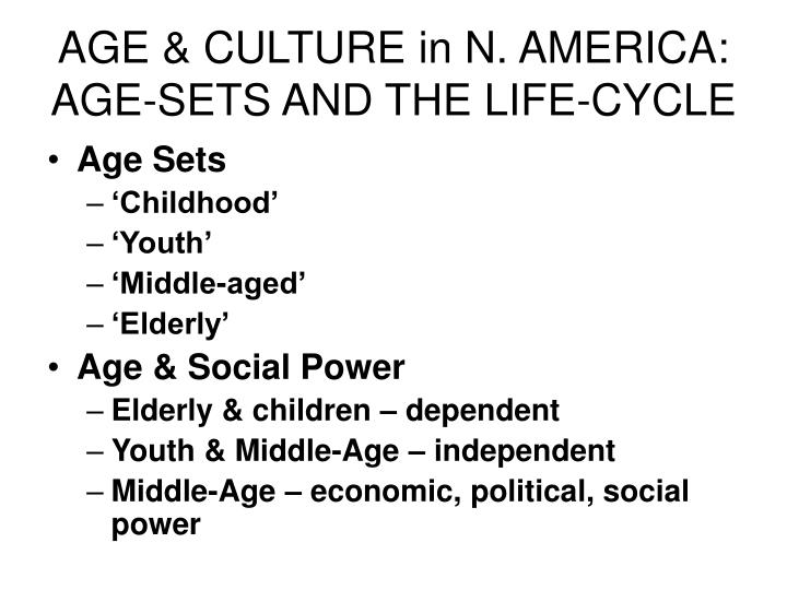 AGE & CULTURE in N. AMERICA: AGE-SETS AND THE LIFE-CYCLE