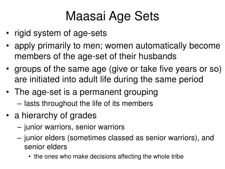 Maasai Age Sets