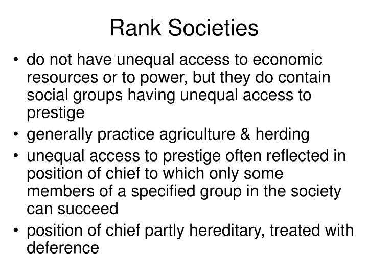 Rank Societies