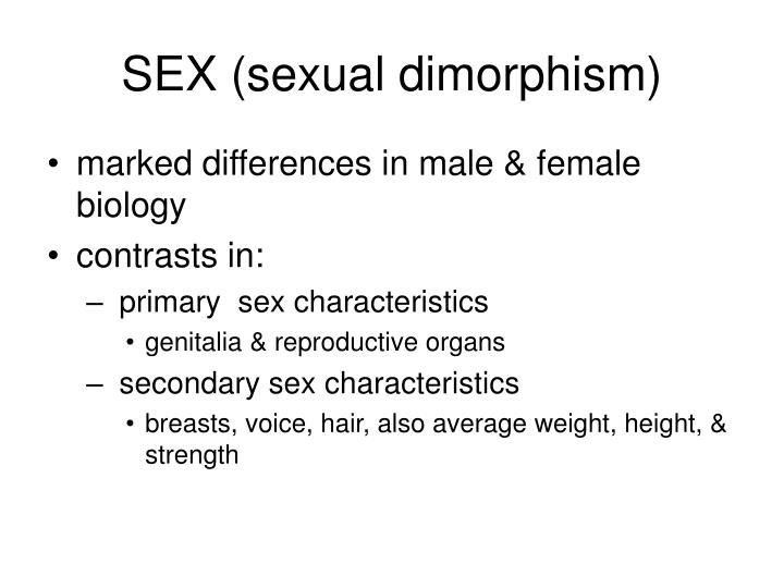 SEX (sexual dimorphism)