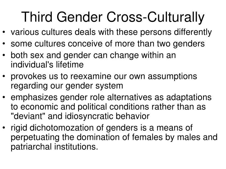Third Gender Cross-Culturally