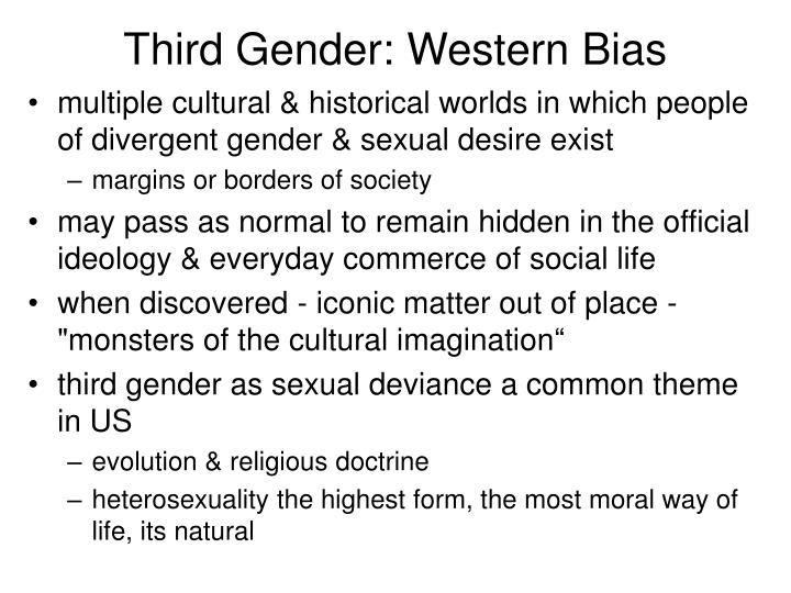 Third Gender: Western Bias