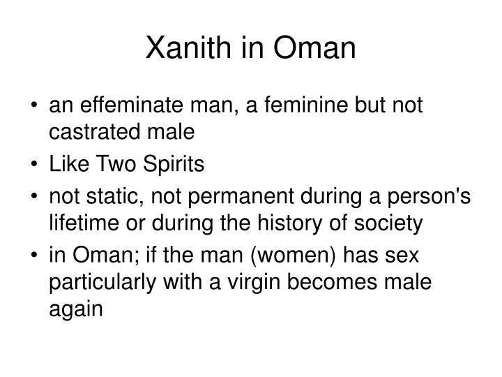 Xanith in Oman