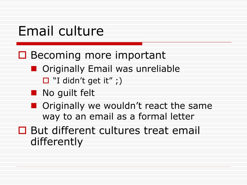 Email culture