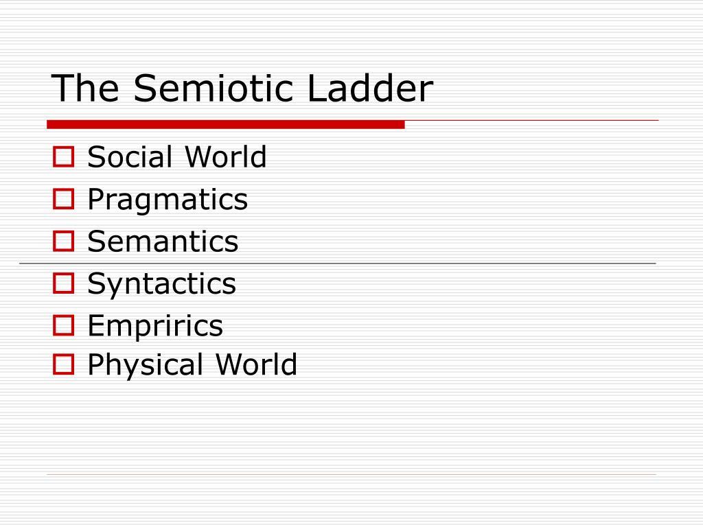 The Semiotic Ladder