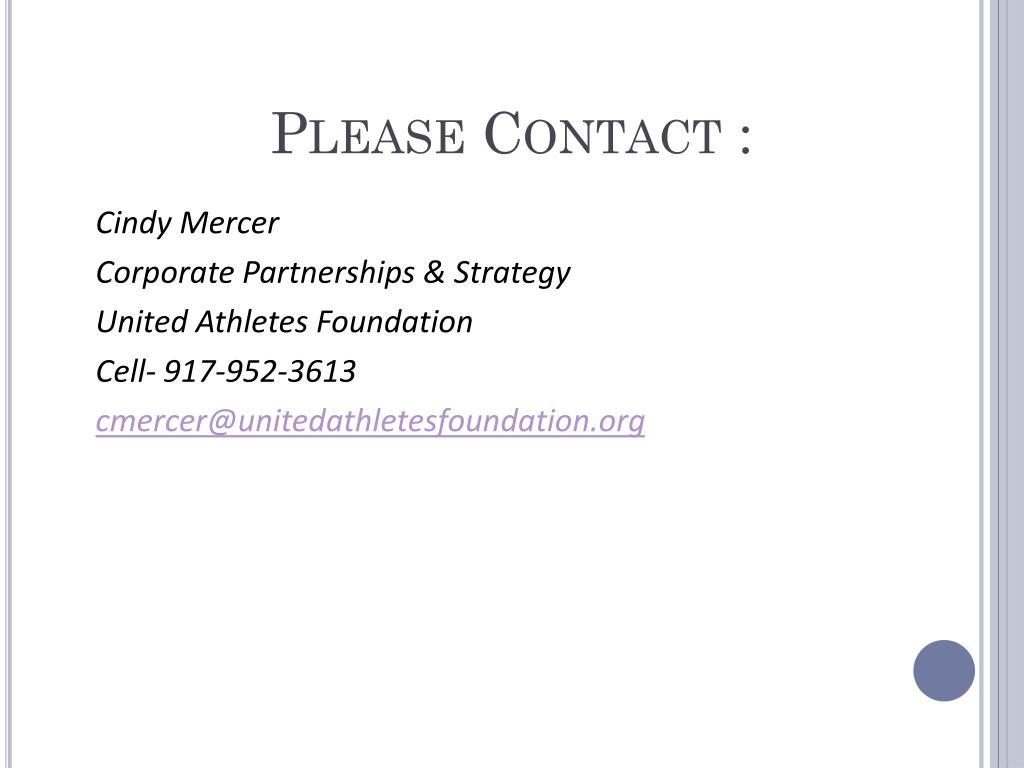 Please Contact :