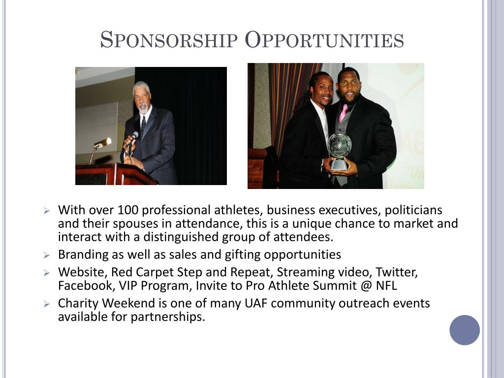 Sponsorship Opportunities