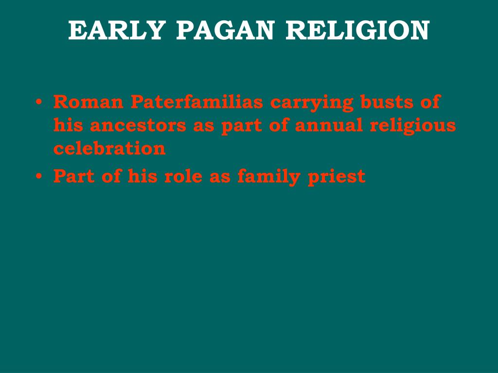 Roman Paterfamilias carrying busts of his ancestors as part of annual religious celebration