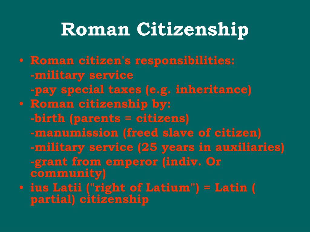 Roman Citizenship