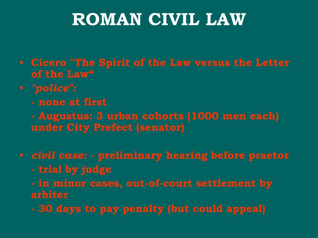 ROMAN CIVIL LAW