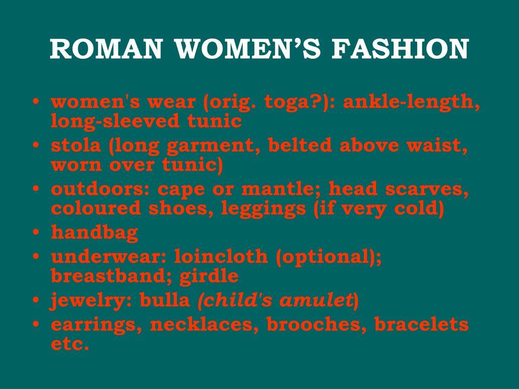 ROMAN WOMEN'S FASHION