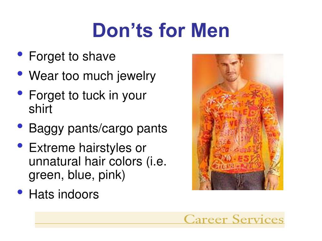 Don'ts for Men