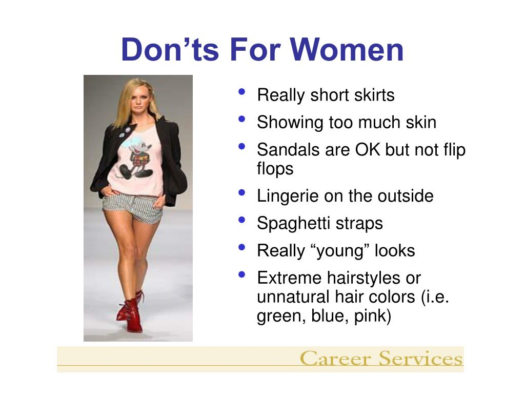 Don'ts For Women