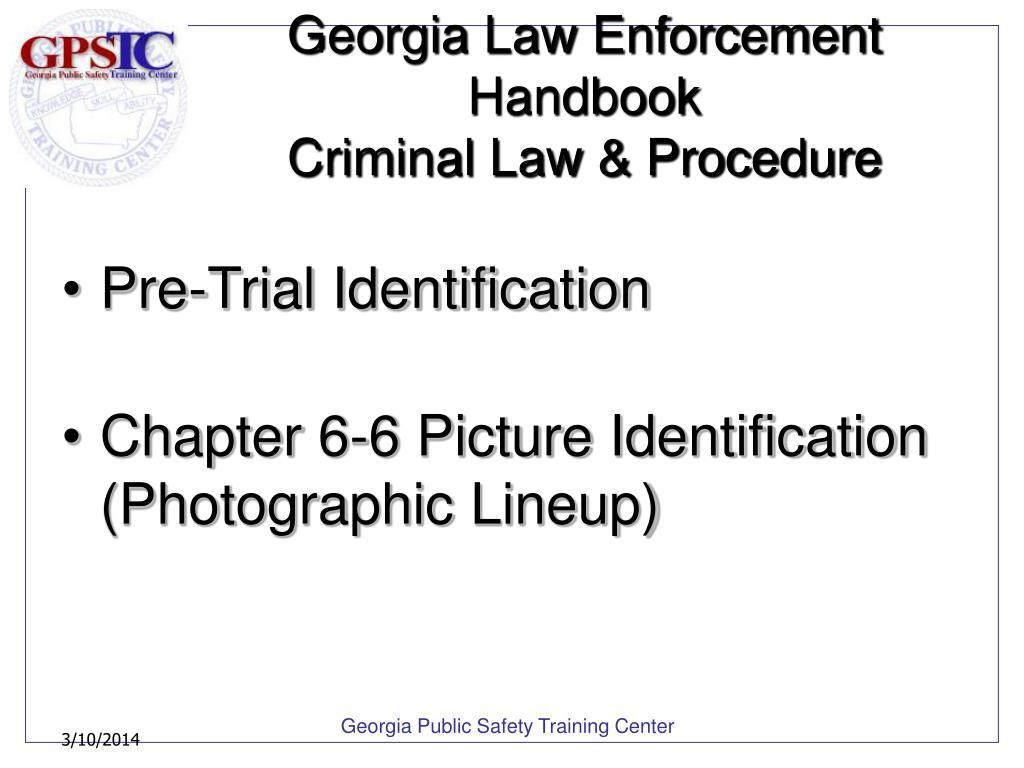 Georgia Law Enforcement Handbook