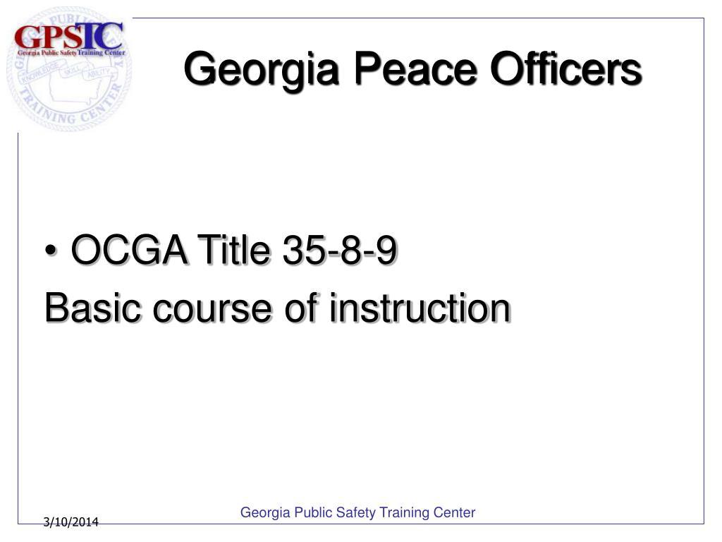 Georgia Peace Officers